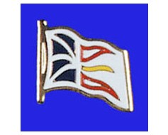 Newfoundland Lapel Pin (Single Waving Flag)
