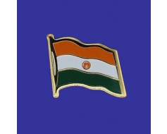 Niger Lapel Pin (Single Waving Flag)
