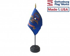 "North Dakota State Stick Flag - 4x6"""
