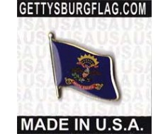 North Dakota State Flag Lapel Pin (Single Waving Flag)