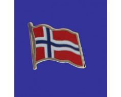 Norway Lapel Pin (Single Waving Flag)