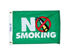 No Smoking Flag - 12x18""
