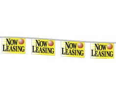Now Leasing Rectangle Pennants