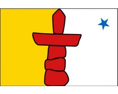 Nunavut Territory Flag (Canada), Header & Grommets - 3x5'