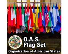 Organization of American States (O.A.S.) Flag Set
