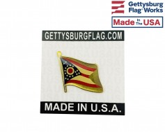 Ohio State Flag Lapel Pin (Single Waving Flag)
