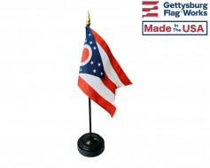 "Ohio State Stick Flag - 4x6"""
