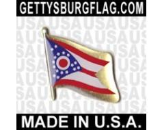 Ohio State Flag Lapel Pin