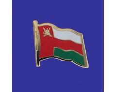 Oman Lapel Pin (Single Waving Flag)
