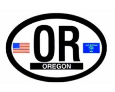 Oregon Oval Sticker