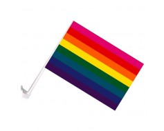 Original Rainbow Flag Car Window - 10x15""