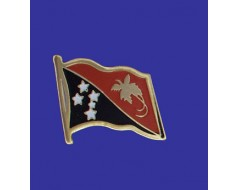 Papua New Guinea Lapel Pin (Single Waving Flag)