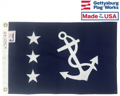 "12x18"" Officer Boat Flag - Past Commodore"