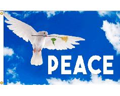 Peace Dove Flag - 3x5'