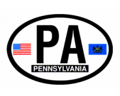 Pennsylvania Oval Sticker