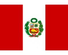 Peru Flag with Seal