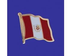 Peru Lapel Pin (Single Waving Flag)