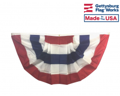 Patriotic Pleated Fan - 5 Stripes Only