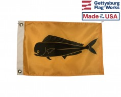 "Dolphin Fish Boat Flag - Mahi-Mahi -  12x18"""