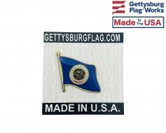 Minnesota State Flag Lapel Pin (Single Waving Flag)
