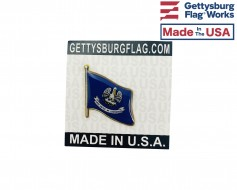 Louisiana State Flag Lapel Pin (Single Waving Flag)