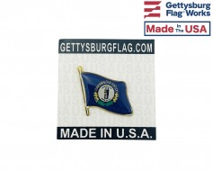 Kentucky State Flag Lapel Pin (Single Waving Flag)