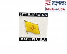 New Mexico State Flag Lapel Pin (Single Waving Flag)