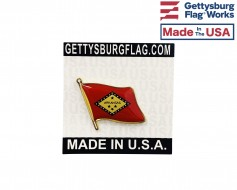 Arkansas State Flag Lapel Pin (Single Waving Flag)