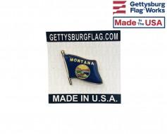 Montana State Flag Lapel Pin (Single Waving Flag)