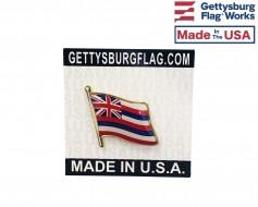 Hawaii State Flag Lapel Pin (Single Waving Flag)