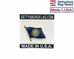 New Hampshire State Flag Lapel Pin (Single Waving Flag)