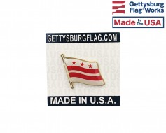 District Of Columbia Lapel Pin (Single Waving Flag)