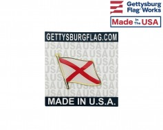Alabama State Flag Lapel Pin (Single Waving Flag)