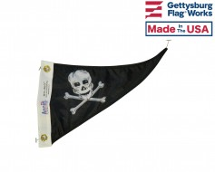 Pirate Triangle Boat Pennant 10x15""