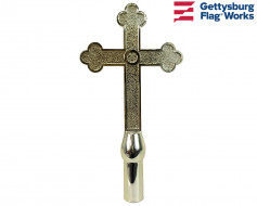 "Church Cross, 10"" Gold"