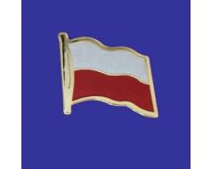 Poland Lapel Pin (Single Waving Flag)