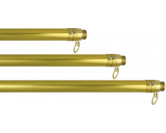 6-10' Adjustable Gold Aluminum Pole, 1 1/8""