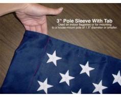 "American Banner, Nylon, 3"" Pole Sleeve - 2.5x4'"