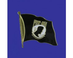 POW/MIA Lapel Pin (Single Waving Flag)