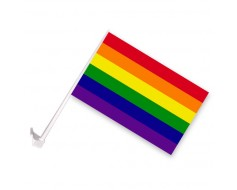 Rainbow Car Window Flag