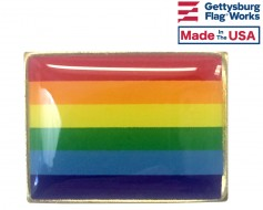 Pride Lapel Pin (Single Rectangle Flag)