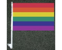 Rainbow Car Window Flag - 10x15""
