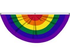 Rainbow Pride Fan - 3x6'