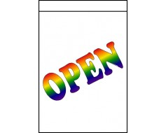 Rainbow OPEN Banner - 2x3'