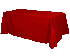 Table Throw, Solid Color Polyester Twill