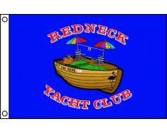 "Redneck Yacht Club Flag - 12x18"" - Single Reverse"