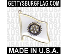 Rotary Lapel Pin (Single Waving Flag)