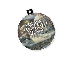 Custom Printed Plastic Christmas Ornament