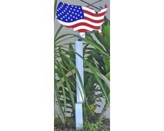Stars & Stripes Patriotic Grave Marker