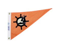 Sailboat Triangle Pennant - 10x15""